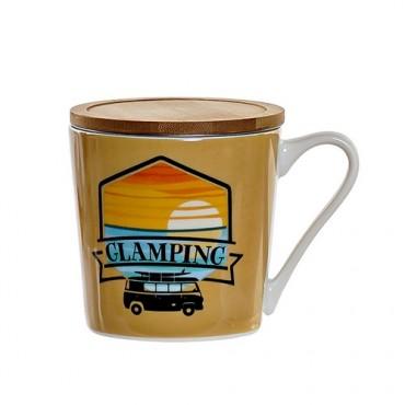 Cana Glamping din portelan portocaliu 10 cm