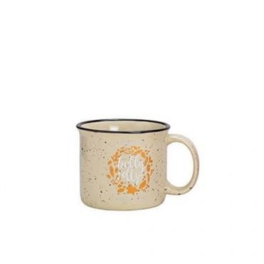 Cana Holiday din ceramica crem 9 cm