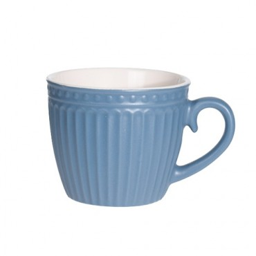 Cana Lines din ceramica albastra 8 cm