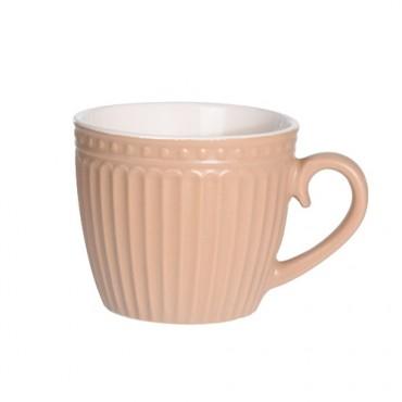 Cana Lines din ceramica portocalie 8 cm