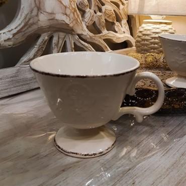 Cana Royal din ceramica crem 11 cm