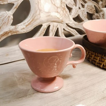 Cana Royal din ceramica roz 11 cm
