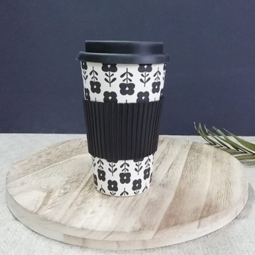 Cana termica Black Bamboo 13 cm