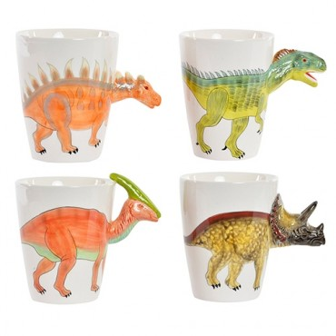 Cana Dinozaur din portelan 14x9 cm - modele diverse