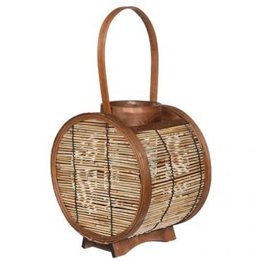 Candela Barrel din lemn 22x16x25 cm