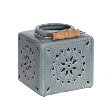 Candela Square din ceramica 16 cm - 2 modele la alegere