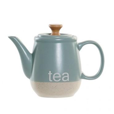 Ceainic Italy din ceramica turcoaz 1l