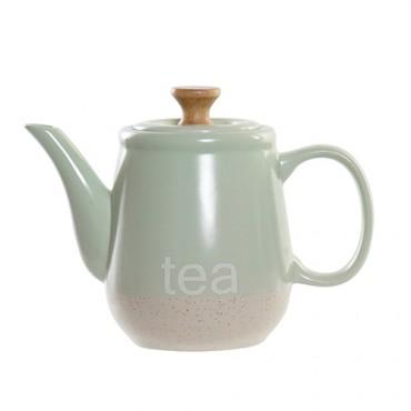Ceainic Italy din ceramica verde 1l
