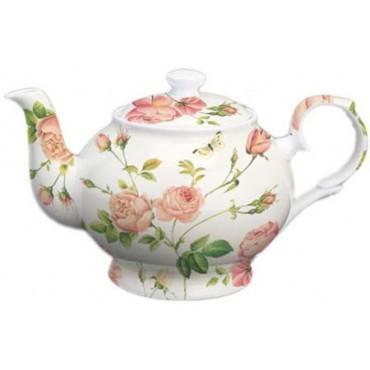 Ceainic Roses din portelan 14x23x12 cm