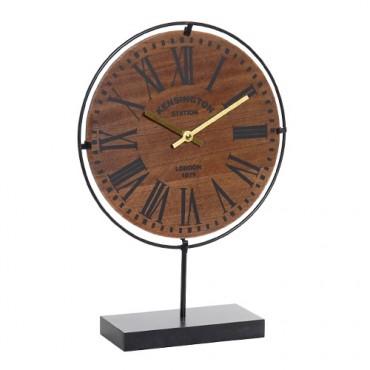 Ceas London din lemn si metal 43 cm