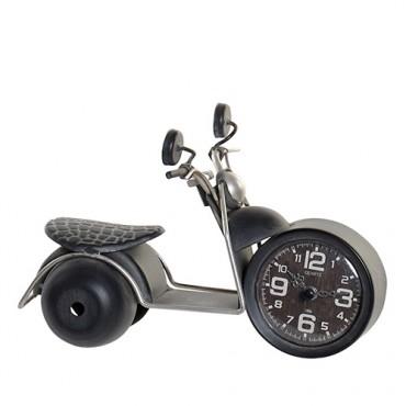 Ceas Motorcycle din metal negru si sticla 24x13 cm - modele diverse
