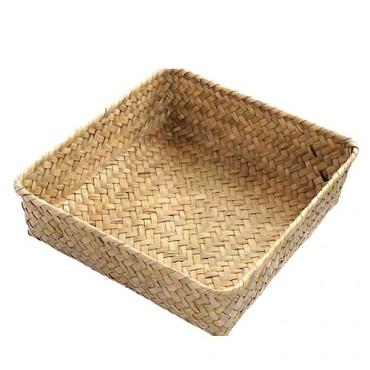 Cos impletit Nisse din fibre naturale 26x11 cm