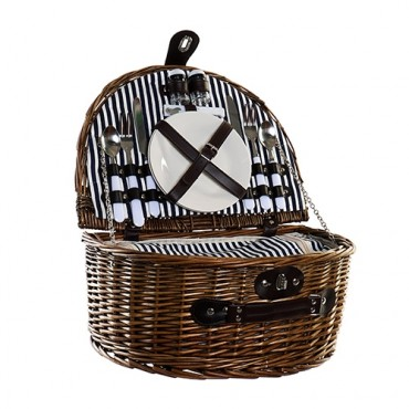 Cos picnic Rustic din rachita 40x30x19 cm