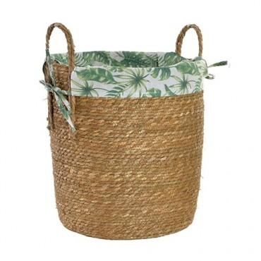 Cos Garden din fibre si textil 39x45 cm