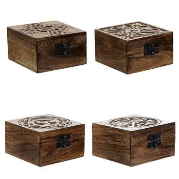 Cutie din lemn pentru bijuterii 10x6 cm - diverse modele