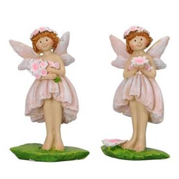Decoratiune Fairy din polirasina roz 5.5x3x8.5 cm - modele diverse