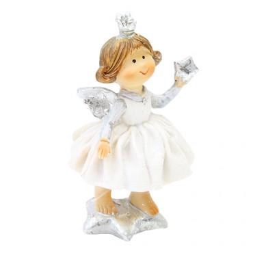 Decoratiune Angelic alb