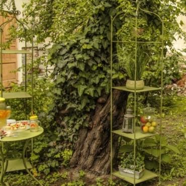 Etajera Romantic Garden din metal verde 211 cm