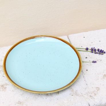 Farfurie de desert Gardena din ceramica turcoaz 20 cm