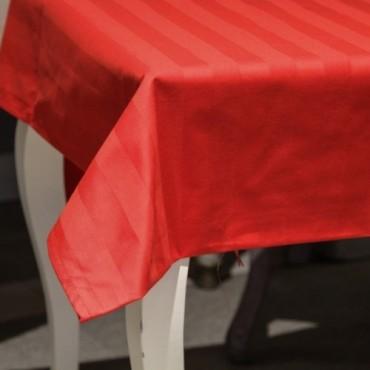 Fata de masa Chic din bumbac rosu 160x160 cm