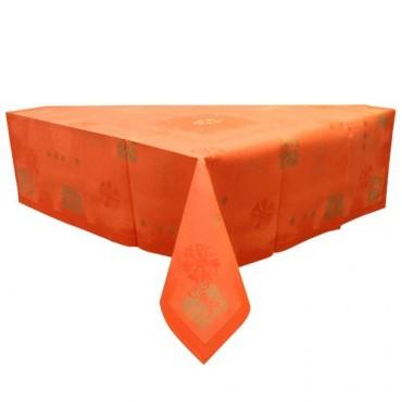 Fata de masa decorativa din hartie portocalie 84x84 cm