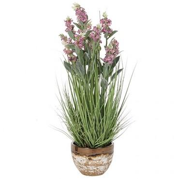 Floare decorativa Purple in ghiveci 65 cm