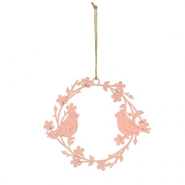 Ghirlanda Pink flowers din metal roz 9.5 cm