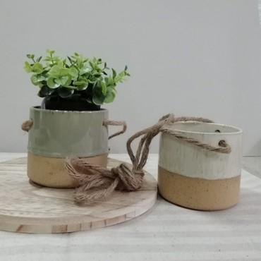 Ghiveci suspendat Sand din ceramica - modele diverse