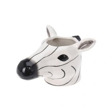 Ghiveci Zebra din ceramica 12 cm
