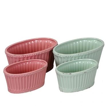Ghiveci Delicate din ceramica roz 22x13 cm
