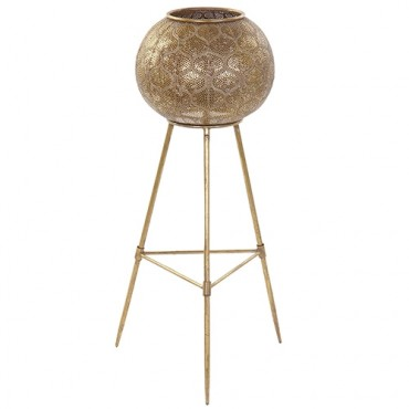 Lampa de podea Gold din metal auriu 85.5 cm