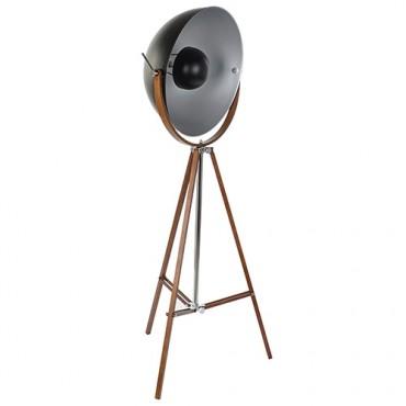 Lampa stil trepied din metal negru cu maro 160 cm