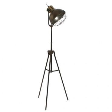 Lampa tip trepied din metal gri 47x40x131 cm