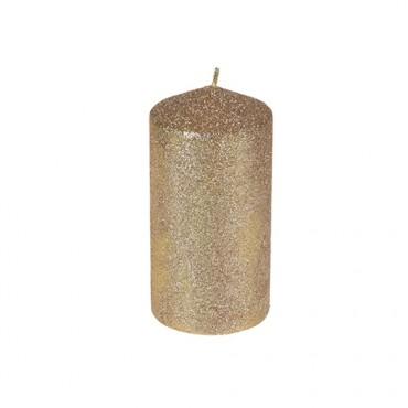Lumanare Glitter Gold 14 cm