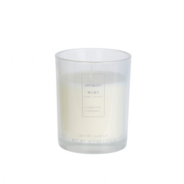 Lumanare parfumata Home gri 12 cm