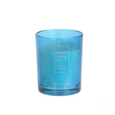 Lumanare parfumata Home turcoaz 12 cm