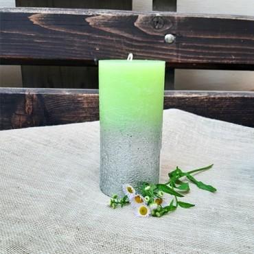 Lumanare Silver Green 14 cm
