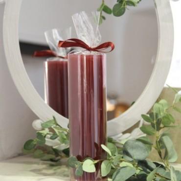 Lumanare Spectacular Wine Red 22 cm