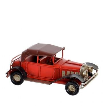 Macheta Vintage Car din metal rosu 5 cm