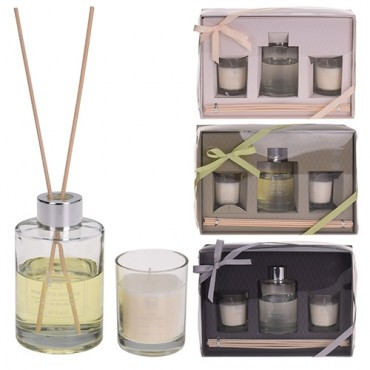 Parfum de camera 80 ml cu lumanari - 3 modele la alegere
