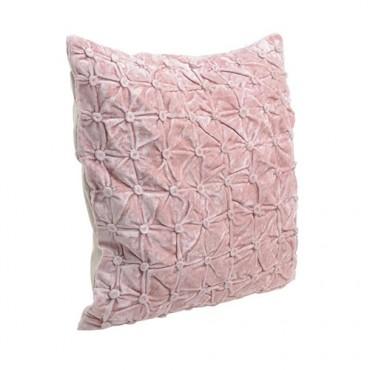 Perna Buttons din textil corai 45x45 cm