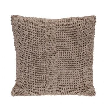Perna Crochet din bumbac bej 45x45 cm