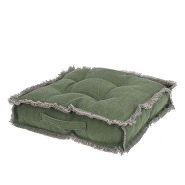 Perna pentru scaun Country din bumbac verde 40x40 cm