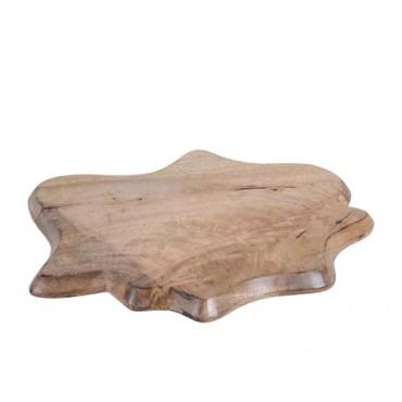 Platou Star din lemn natur 43x52 cm