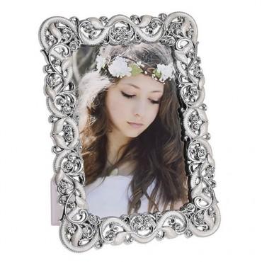 Rama foto Precious cu model floral argintiu 13x18 cm