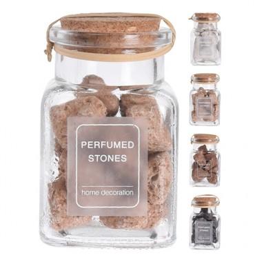 Recipient cu pietre parfumate 9.5 cm - 4 modele la alegere