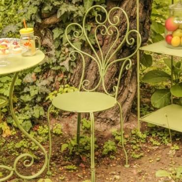 Scaun Romantic Garden din metal verde 50x95 cm