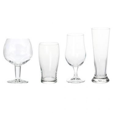 Set 4 pahare din sticla pentru bere