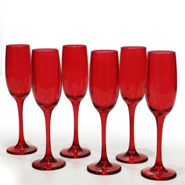 Set 6 pahare Reddish din sticla 20 cm