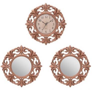 Set decorativ Copper cu 3 piese 25.5x3 cm